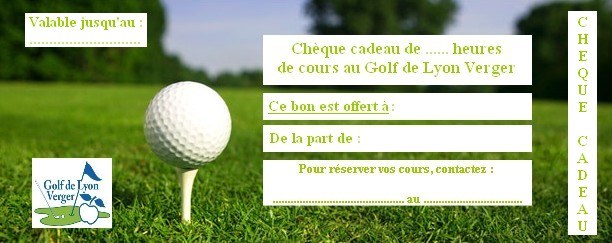 Carte Cadeau Golf.Golf De Lyon Verger Ecole De Golf Tarifs Des Enseignements